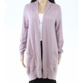 ファッション トップス Dreamers Womens Sweater Deep Purple Size Large L Cardigan Open-Front