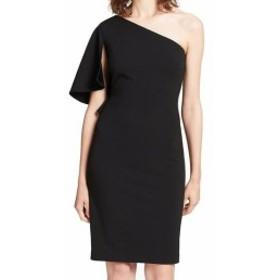 Calvin Klein カルバンクライン ファッション ドレス Calvin Klein NEW Black Womens 8P Petite One-Shoulder Sheath Dress