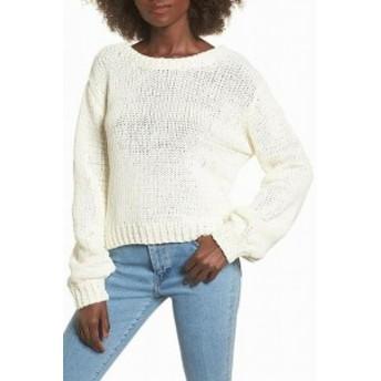 J.O.A.  ファッション トップス J.O.A. Womens Sweater White Ivory Size XL Tunic V-Neck V-Back Knit