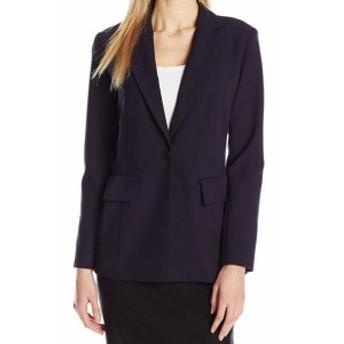 Blazer ブレザー ファッション フォーマル Ellen Tracy NEW Blue Womens Size 14 Fitted Boyfriend Blazer Jacket