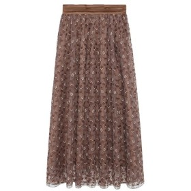 Lily Brown(リリーブラウン)フラワー刺繍スカート