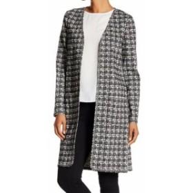 max マックス ファッション 衣類 Max Studio Womens Black Size Medium M Collarless Open Front Jacket