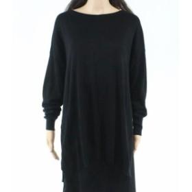 Night  ファッション トップス Caslon Womens Sweater Night Black Size XL Tunic Scoop Neck Hi-Low