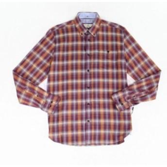 Plaid  ファッション アウター Gable & Grant Mens Purple Size Small S Pocket Button Down Plaid Shirt