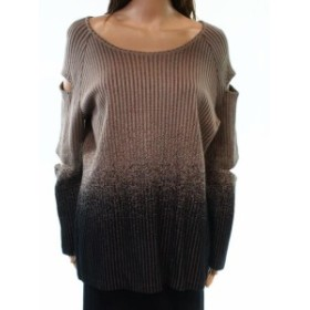 Ming  ファッション トップス Ming NEW Brown Black Womens Size Medium M Cut Out Stud Knitted Sweater