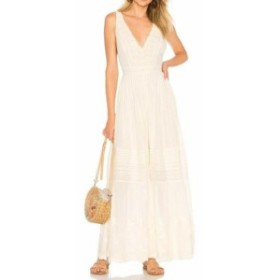 Free People フリーピープル ファッション ジャンプスーツ Free People Womens Jumpsuit White Ivory Size 2 wide-leg Lace V-neck