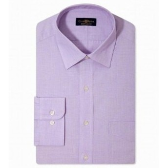 One  ファッション ドレス Club Room NEW Purple Mens Size 16 1/2 Classic Fit One Pocket Dress Shirt