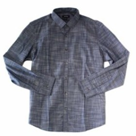 Alfani  ファッション アウター Alfani NEW Gray Mens Small S Stripe Roll Tab Sleeve Button Up Shirt