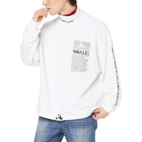 [ウィゴー] リフレクト ロゴ ハイ ネック プルオーバー スウェット メンズ L ホワイト