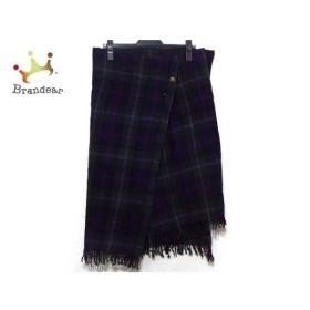 ワイズ Y's スカート サイズ2 M レディース グリーン×ネイビー×パープル チェック柄 新着 20190928