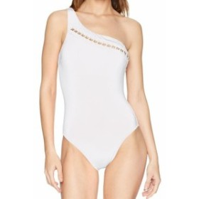Kenneth Cole ケネスコール スポーツ用品 スイミング Kenneth Cole NEW White Womens Size Large L Chain One-Piece Swimwear