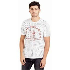 Bandana  ファッション トップス True Religion Mens True Bandana Short Sleeve Crew Neck Tee T-Shirt