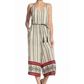 Jessica Simpson ジェシカシンプソン ファッション ジャンプスーツ Jessica Simpson NEW Beige Tribal Geo Print Crop Small S Junior Ju