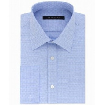 Plaid  ファッション ドレス Sean John NEW Blue Mens Size 17 1/2 Plaid Print Tailored Dress Shirt