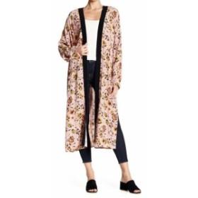 Sanctuary サンクチュアリ ファッション トップス Sanctuary NEW Pink Womens One Size Kimono Floral-Printed Sweater