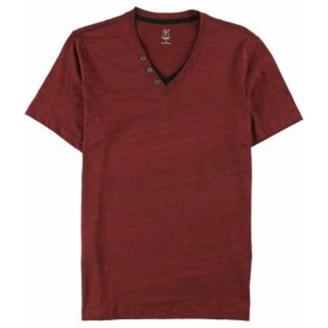 Apple  ファッション トップス INC Mens Tee Shirt Chinese Apple Red Black Size XL Short Sleeve V Neck #062