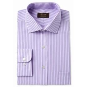One  ファッション ドレス Tasso Elba NEW Purple Mens Size 15 Pinstriped One Pocket Dress Shirt