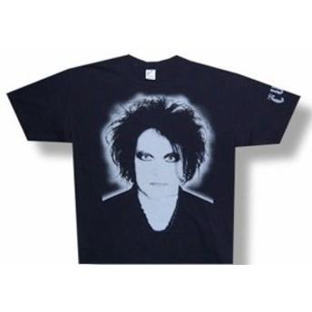 ファッション トップス The Cure-Robert Smith-Face-Grey Sleeve Print-Black T-shirt