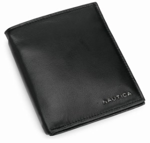 Nautica Men/'s Bifold Genuine Leather Credit Card ID Passcase Wallet 31NU22X026