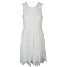 line ライン ファッション ドレス Tommy hilfiger white sleeveless lace dress a line