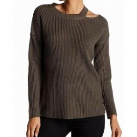 ファッション トップス RDI NEW Green Womens Size Large L Cutout Shoulder Pullover Sweater