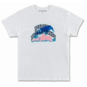 Pink Dolphin ピンクドルフィン ファッション トップス Pink Dolphin Mens Collegiate Sky White T-Shirt Apparel Tee Fun Skate Cool NW