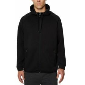 ファッション トップス 32 Degrees NEW Black Mens Large L Full Zip Performance Hooded Sweater