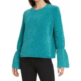 bell ベル ファッション トップス WILLOW & CLAY NEW Blue Womens Size Small S Bell Sleeve Pullover Sweater