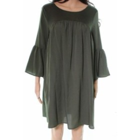 bell ベル ファッション ドレス French Connection NEW Green Bell Sleeve Women Size Medium M Shift Dress