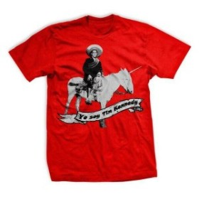 Red  ファッション トップス Ranger Up Tim Kennedy Victory Unicorn T-Shirt - Small - Red