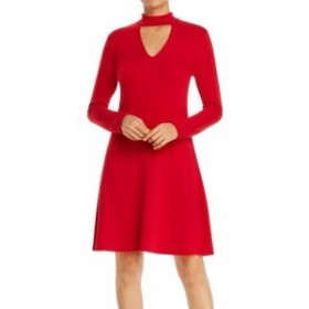 Red  ファッション ドレス Robert Michaels NEW Red Womens Size XL Mock-Neck Keyhole A-Line Dress