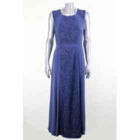 Patra  ファッション ドレス Patra small blue sleeveless mesh-panel dress 10p