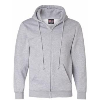 ファッション トップス Bayside Mens Adult Full Zip Hooded Sweatshirt BA900 Size S-3XL