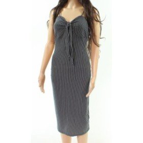 ファッション ドレス Velvet Torch NEW Black Womens Medium M Striped Tie Front Sheath Dress