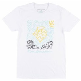 Pink Dolphin ピンクドルフィン ファッション トップス Pink Dolphin Mens Waves Stamp White T-Shirt Apparel Tee Skate Streetwear NWT