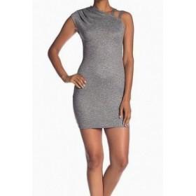 Rachel Roy レイチェルロイ ファッション ドレス Rachel Rachel Roy NEW Gray Asymmetrical Knit Large L Sheath Dress