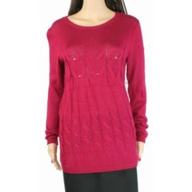 Red  ファッション トップス Lafayette 148 Womens Sweater Red Size XL Scoop Nevk Knit Cashmere