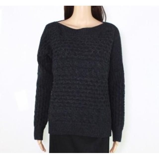 ファッション トップス All Saints Womens Gray Size Small S Cable-Knit Boat Neck Sweater