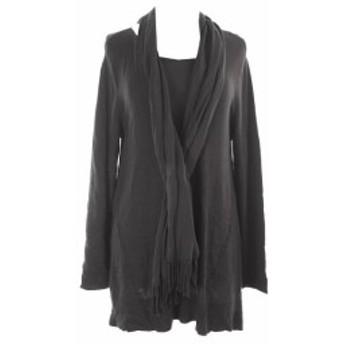 Coal コール ファッション トップス Alfani Coal Melange Fringe Scarf Swing Sweater M