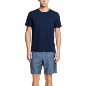 DKNY ダナキャランニューヨーク ファッション パンツ DKNY NEW Chambray Medium Blue Mens Size 28 Straight Leg Knit Shorts