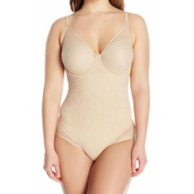 Bali  スポーツ用品 フィットネス Bali Womens Shapewear Nude Beige Size 38B Body Suits Underwire Lace #443