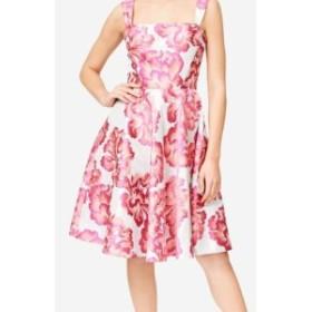 Betsey Johnson ベッツィージョンソン ファッション ドレス Betsey Johnson NEW Pink Floral Jacquard Silver Flare 2 A-Line Dress