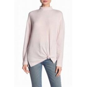 Pale  ファッション トップス Socialite Womens Sweater Pale Pink Size XL Mock Neck Kn it Twist Hem