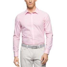 Calvin Klein カルバンクライン ファッション ドレス Calvin Klein Mens Dress Shirt Pink Size XL Breathable Inifinite Cool