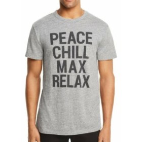 Chaser チェイサー ファッション トップス Chaser Mens Gray Size XL Peace Chill Max Relax Graphic Tee T-Shirt