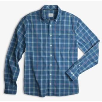 Plaid  ファッション アウター Hangin Out Mens Blue Size Medium M Plaid Print Button Down Shirt