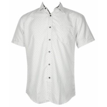 ファッション アウター Daniel K Mens Short Sleeve Printed Rayon Button Down Shirt