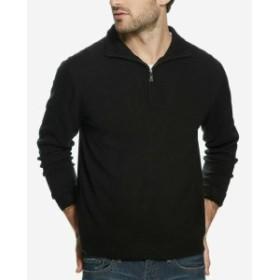 Touch タッチ ファッション トップス Weatherproof NEW Black Mens Size Medium M 1/2 Zip Soft Touch Sweater