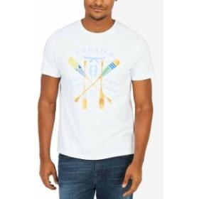 nautica ノーティカ ファッション トップス Nautica Mens Tee T-Shirt White Yellow Size XL Arrow Graphic Print