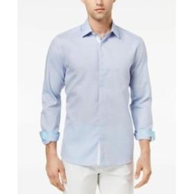 Ryan  ファッション ドレス RYAN SEACREST NEW Blue Solid Mens Size 2XL Woven Button Down Shirt